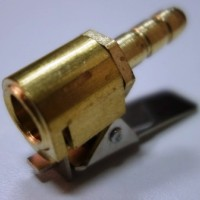 Наконечник (штуцер) шланга подкачки бронза, LF-8-B